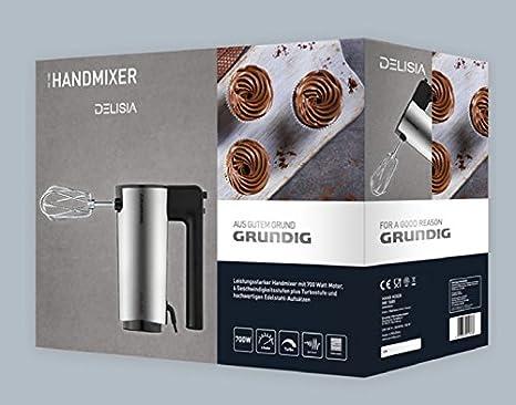 Grundig HM 7680 - Batidora (Batidora de mano, Negro, Acero ...