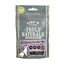 Lily's Kitchen Truly Naturals Mini Venison Sausages for Dogs (60g) - (PACK OF 2)