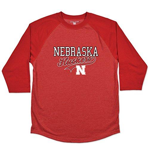 NCAA Nebraska Cornhuskers Youth Home Run Raglan Tee, Size 8-10 /Small, Red ()