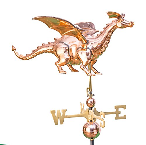 East Coast Weathervanes and Cupolas Dragon Weathervane Polished Copper