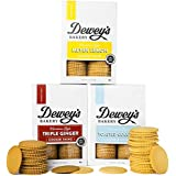 Dewey's Bakery Moravian Cookie Thin Variety Pack | Baked in Small Batches | Real, Simple Ingredients | Southern Bakery Recipes | 15 Calories Per Cookie | Pack of 3 9-oz boxes