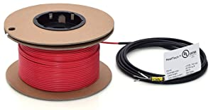 80sqft HeatTech Electric Radiant Floor Heating Cable, 120V, 320 Feet Long Heating Cable, Covers 55-105 sqft