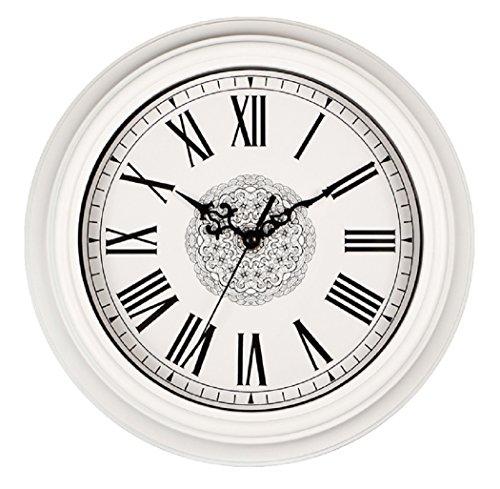 Art Deco Room (SonYo Silent Non-ticking Classic Quartz Wall Clock Decor Living Room Roman Numeral Clocks White 12 Inches)