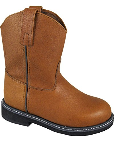Jackson Boot Leather - Smoky Mountain Boys' Jackson Leather Wellington Western Boot Round Toe Brown 6.5 D(M) US