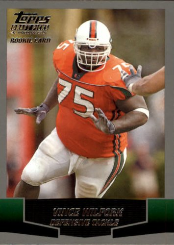 2004 Topps Draft Picks and Prospects Football Rookie Card #136 Vince Wilfork Mint (2004 Topps Draft)