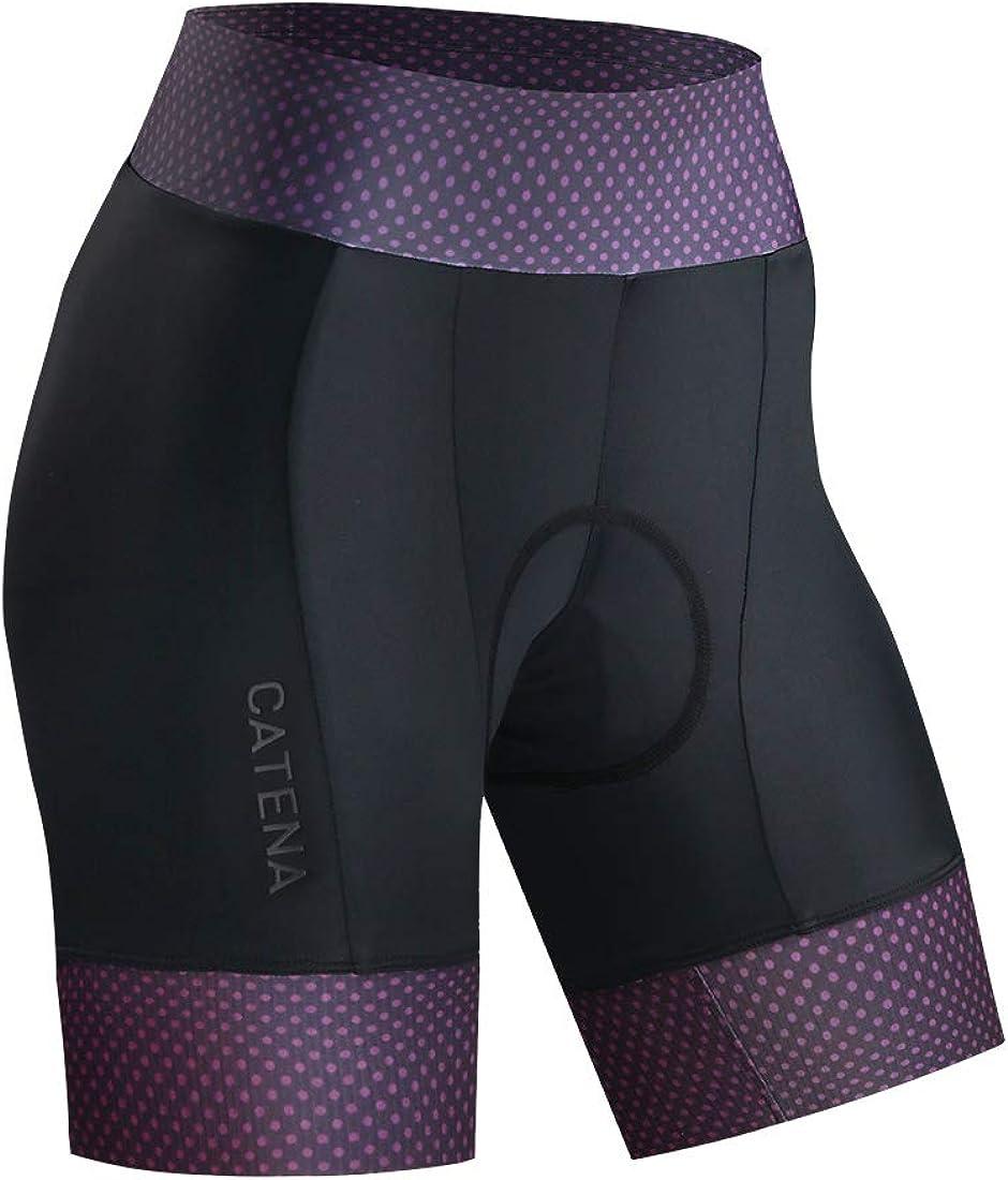 CATENA Womens Bike Shorts 3D Padded Cycling Short Pants for MTB Road Bicycle