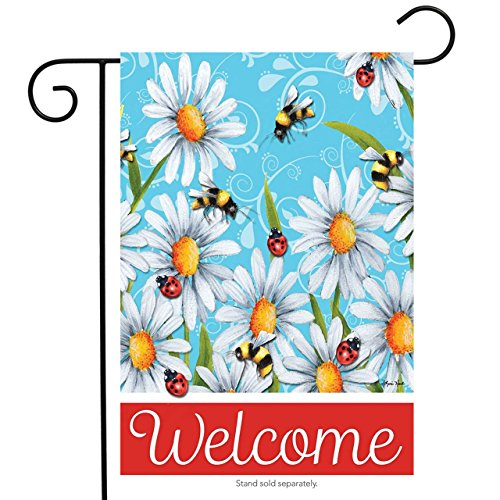 Seize the Daisies Spring Garden Flag Ladybugs Bees Floral 12.5
