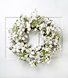 This floral wreath is a delightful way to announce the arrival of spring. Adorn your front door, living room wall or the space above the mantel with this dogwood berry wreath to spruce up your spring decor. Delicately designed, this spring wr...