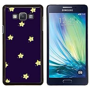 YiPhone /// Prima de resorte delgada de la cubierta del caso de Shell Armor - protagonizada por niños felices púrpura azul noche - Samsung Galaxy A7 A7000