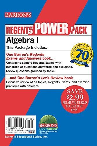 Algebra I Power Pack (Regents Power Packs) by Rubinstein M.S., Gary (January 1, 2015) Paperback