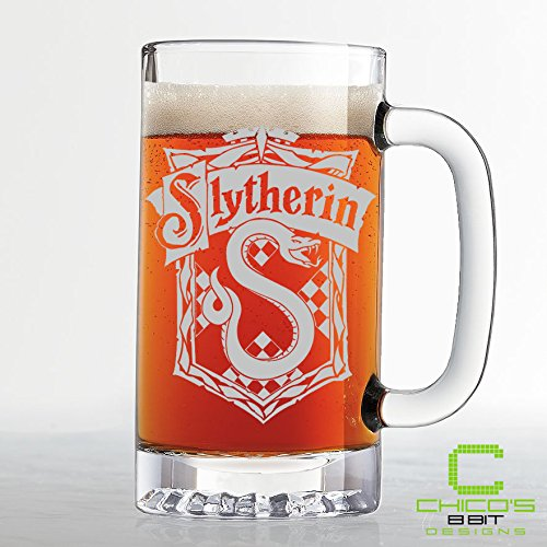 Harry Potter - Slytherin House Crest Beer Mug - Etched