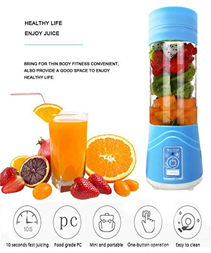 Lovep Portable Personal Blenders, Smoothie Blender USB Rechargeable Juicer Cup Household Fruit Mixer,Food Grade PC+Food Grade Rubber Seal with Powerful Motor, Water Bottle by Lovep (Image #2)