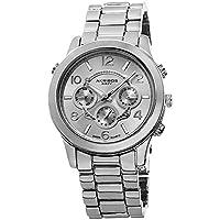 Akribos XXIV - Reloj de pulsera en tono plateado multifunción suizo AK648SS Ultimate para mujeres