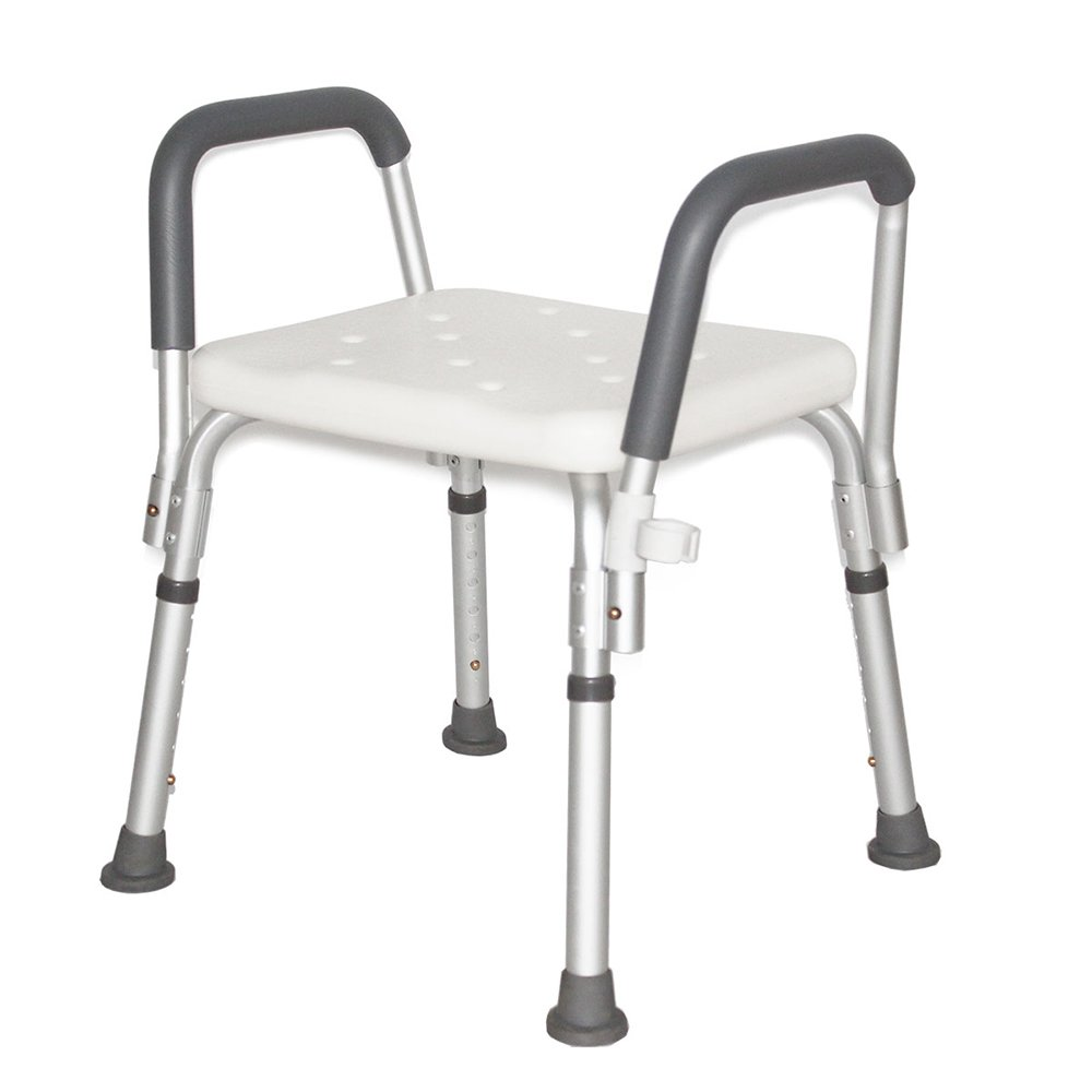 WURE Bathroom bath chair/6 adjustable shower stool/aluminum bathroom chair/old shower stool/pregnant women bath stool/slip resistant disabled stool/(484370cm) by WURE