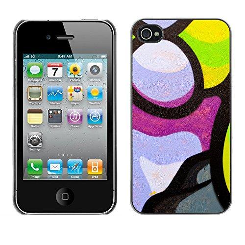 Hülle Case Schutzhülle Cover Premium Case // V00002300 Graffiti // Apple iPhone 4 4S 4G