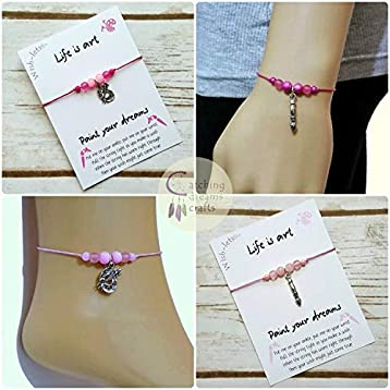 9e1bbabfa7c28 Wish-let, Wish Bracelet - PAINT YOUR DREAMS - Beaded Wish Bracelet ...