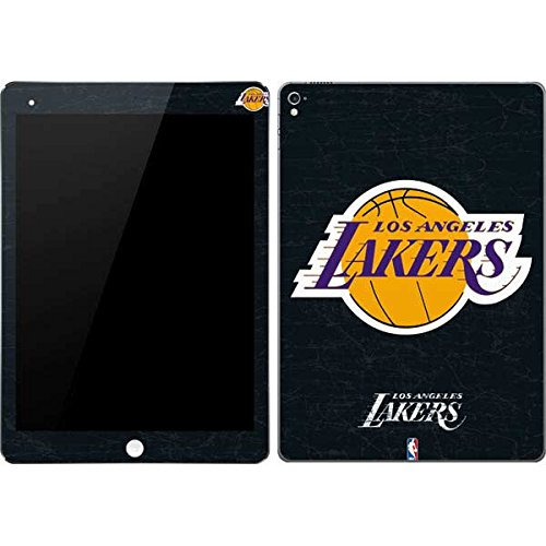 NBA Los Angeles Lakers iPad Pro 9.7in Skin - Los Angeles Lakers Black Primary Logo Vinyl Decal Skin For Your iPad Pro 9.7in by Skinit