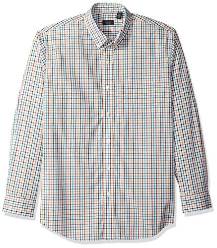 Star Hamilton (Arrow Men's Hamilton Poplin Long Sleeve Button Down Shirt, Bright Star White, Large)
