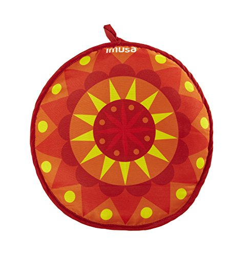 (IMUSA USA MEXI-10007 Sunburst Cloth Tortilla Warmer 12-Inch, Yellow/Red/Orange)