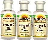 Sundown Naturals Vitamin E Oil 2.50 oz (Pack of 3)