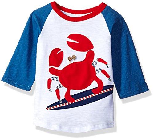 (Mud Pie Baby Boys' Raglan T-Shirt, Crab, 12-18 Months)