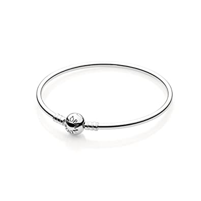 with pandora bangles amazon sterling bangle silver com dp clasp quot bead