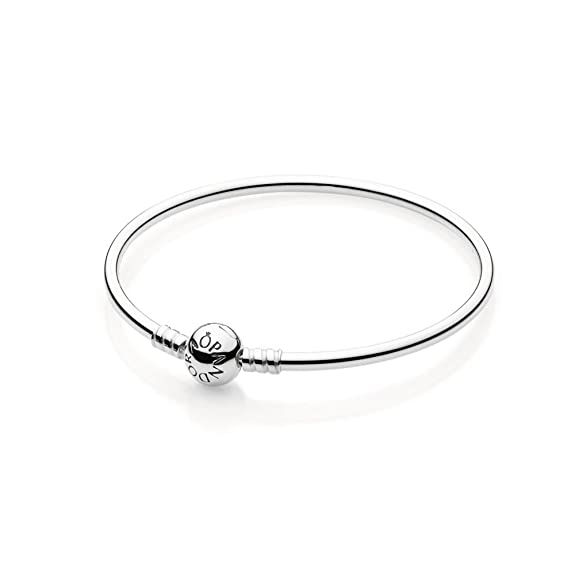 PANDORA Sterling Silver Bangle with Bead Clasp 590713-19