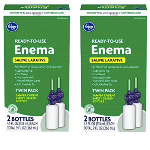Kroger® Ready-to-Use Enema Saline Laxative Twin Pack (Pack of 2)
