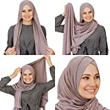 Cotton head scarf, instant black hijab, ready to wear muslim accessories for women (Viza)