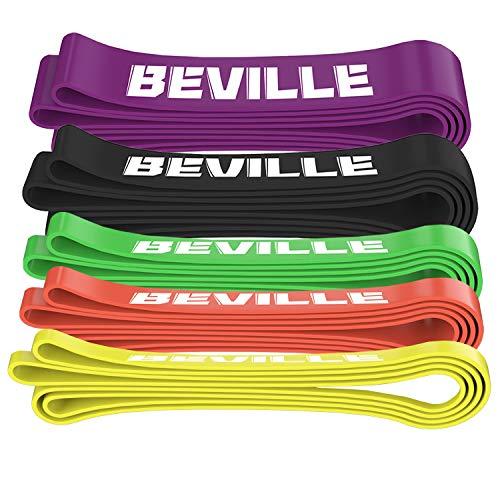 BEVILLE Fitnessbanden resistance band natuurlatex weerstandsbanden gymnastiekband voor krachttraining & pull-up en…
