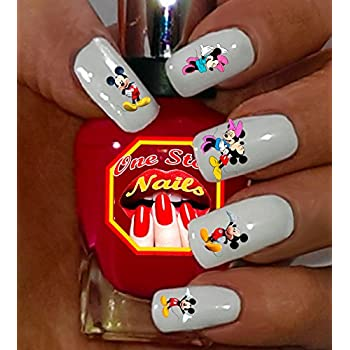Amazon Disney Mickey And Minnie Mouse Water Slide Nail Art