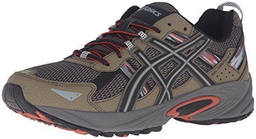 a8cdb4f8a05 ASICS Men's Gel-Venture 5 Trail Runner, Dusky Green/Black/Cinnamon,