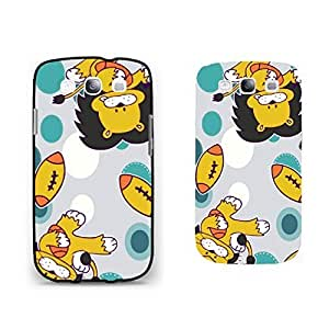Cute Cartoon Lion King Playing Soccer Samsung Galaxy S3 Animal Phone Case Cool Polka Dot Back Plastic Cell Phone Case Cover for Boys
