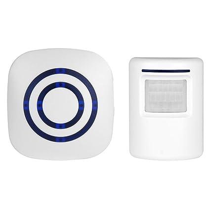 KOBWA Alarma de Sensor de Movimiento, Alarma de Entrada de Seguridad doméstica inalámbrica, 1