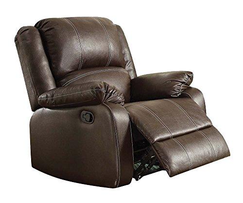 zuriel brown faux leather rocker