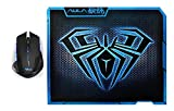 AFUNTA E-3lue E-Blue Mazer 2500 DPI Blue LED 2.4GHz Wireless Optical Gaming Mouse with AULA 11.8 * 9.2 Inch Gaming Mouse Pad