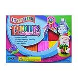 Arcilla para modelar bricolaje de 12 colores, arcilla para hornear de horno suave de 0.7 oz/pieza con tutorial para el proyecto escolar, el mejor regalo para niños.