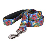 Yellow Dog Design Hibiscus Paradise Ez-Grip Dog Leash with Comfort Handle 1'' Wide and 5' (60'') Long, Large