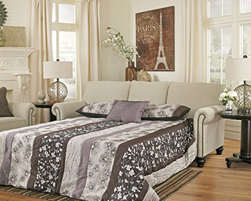 Milari Casual Fiber Linen Color Queen Sofa Sleeper