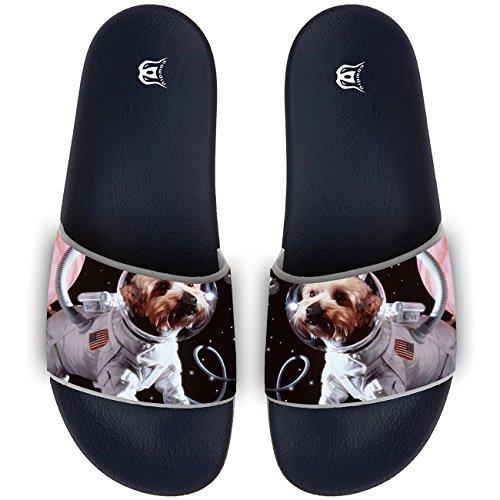 9ca5b544d COWDIY Fashion Slide Sandals Space Dog Astronaut Cute Beach Slippers Soft Flip  Flops Bath Slippers For