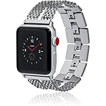 Apple Watch Band - MILA - 38mm 42mm Stainless Steel Metal Replacement Wristband for Apple Watch Nike+, Series 3, Series 2, Series 1 More Colors Available