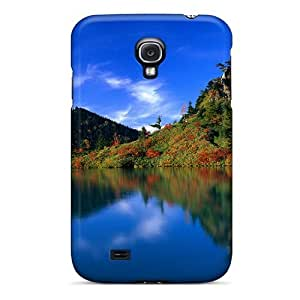 For Galaxy S4 Tpu Phone Case Cover(reflection Of Autumn Trees)
