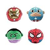 Marvel Fluffball Ornament 4 Pack - Spiderman, Captain America, The Hulk and Iron Man