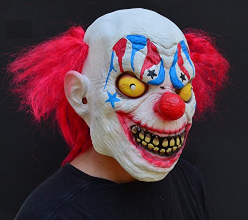 Acid Tactical Scary Creepy Halloween Clown Evil Latex Mask - Sinister (Sinister Clown Makeup)