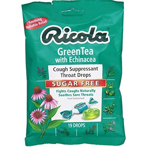 Ricola Echinacea Green Tea Lozenges, 3 - Honey Lozenges 75