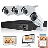 JOOAN TC-604DVR-4H 1080TVL Analog Cameras 4CH CCTV DVR System Surveillance Security Cameras Indoor/Outdoor