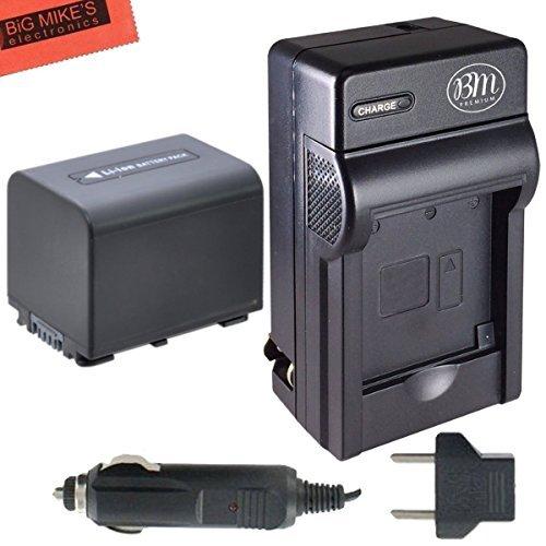 BM Premium NP-FV70 Battery & Charger for Sony FDR-AX53, HDR-CX455/B, HDR-CX675/B, HDR-CX190, HDR-CX200, HDR-CX210, HDR-CX220, HDR-CX230, HDR-CX260V, HDR-CX290, HDR-CX330, HDR-CX380, HDR-CX430V, HDR-CX580V, HDR-CX760V, HDR-CX900, HDR-PJ340, HDR-PJ540, HDR-PJ670, HDR-PJ810, FDR-AX33, FDR-AX100 - Sony Camcorder Charger