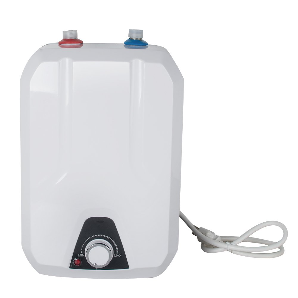 zinnor 8L Instant Electric Water Heater Kitchen Household Electrical Hot Water Tank for Bathing Washingroom Shower 1500W/1.5KW 50HZ, IPX4 Water-Proof Level 110V 55℃- 75℃ USA Shipping by Zinnor (Image #1)