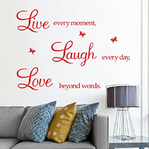 70 Cm Ceramic (Wall Stickers,Ikevan PVC Decal Removable Art Family Beautiful Flower Motto Wall Stickers Home Words Decor Wall Sticker 50X70cm (Red))