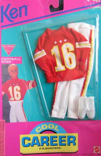 Barbie KEN Cool Career Fashions FOOTBALL STAR - Easy To Dress (1992 Arcotoys, Mattel) by Unknown